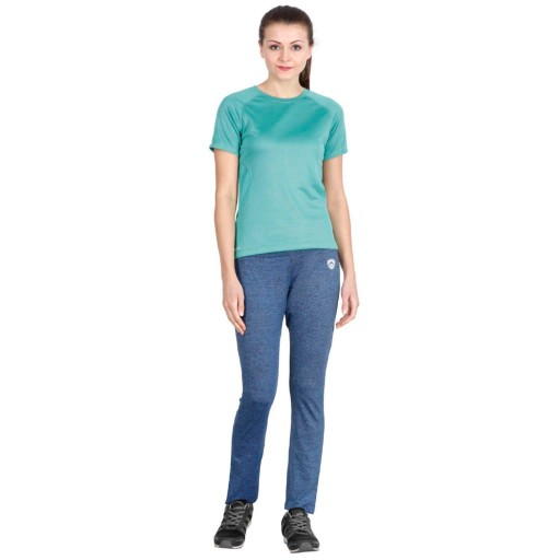 ARMR Women Blue Melange Sport Yoga Pants