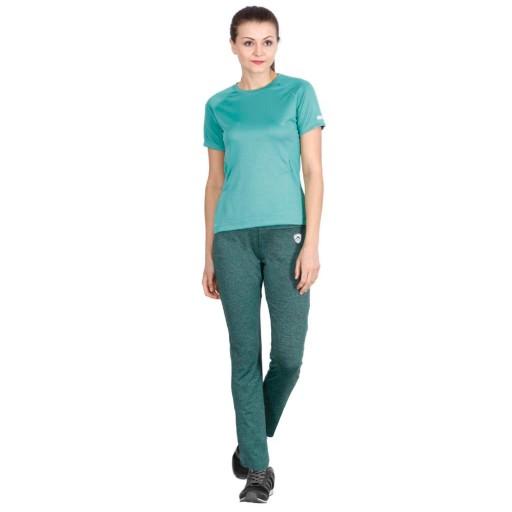 ARMR Women Green Melange Sport Yoga Pants