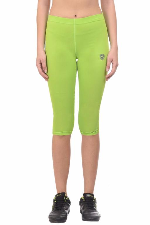 ARMR Women Neon Green SKYN 3/4th Capris