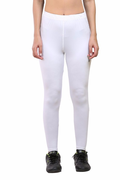 ARMR Women White SKYN Full-Length Tights