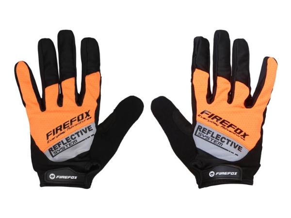 Firefox Full Finger Gloves - Black/Orange