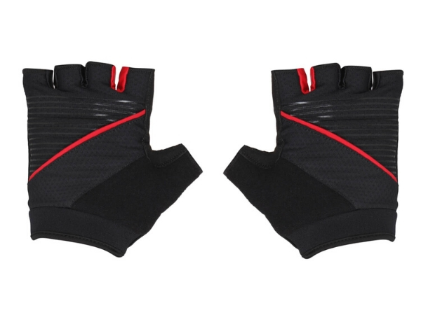 Firefox Half Finger Bicycle Gloves - Black/Red