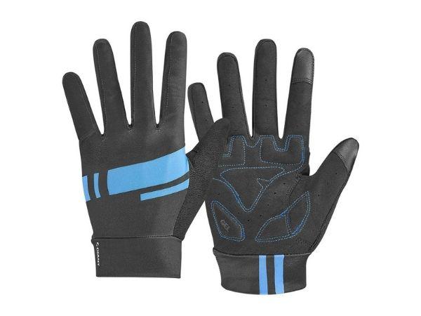 Giant Podium Gel Long Finger Gloves - Black/Blue
