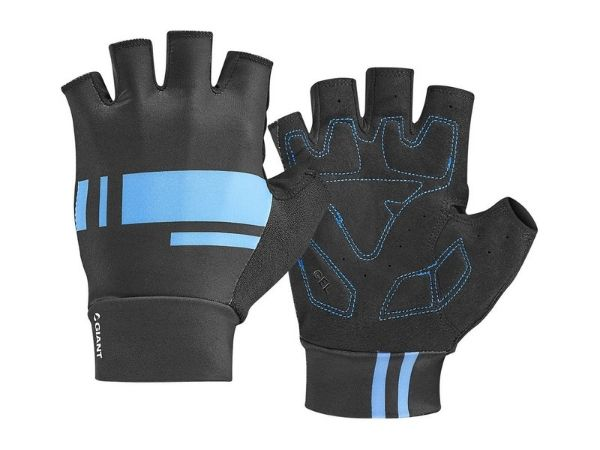 Giant Podium Short Finger Gloves - Black/Blue