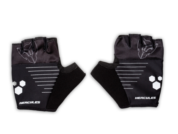 Hercules Cycling Gloves - Black