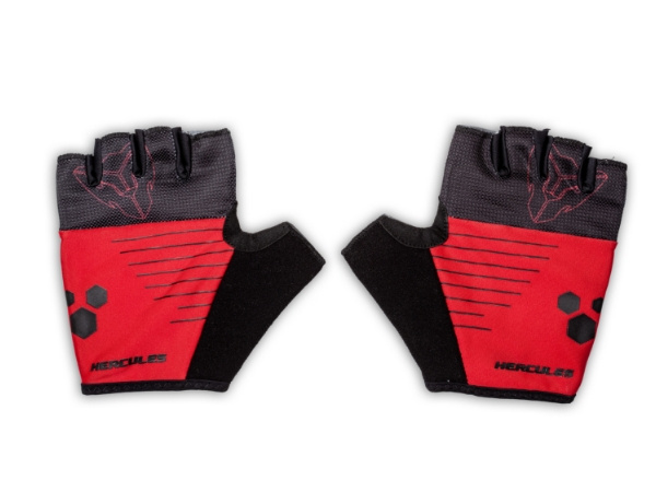 Hercules Cycling Gloves - Red