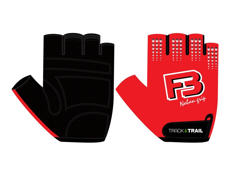 Track & Trail F3 Basic Gloves Red