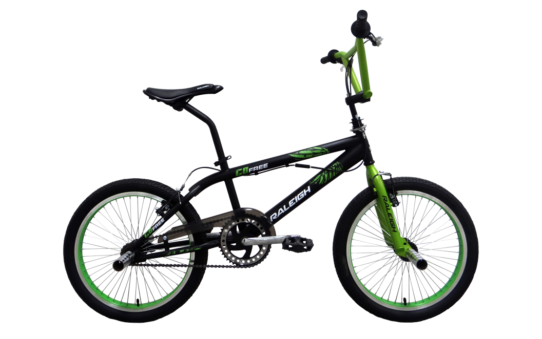 raleigh go free 2016 black with green