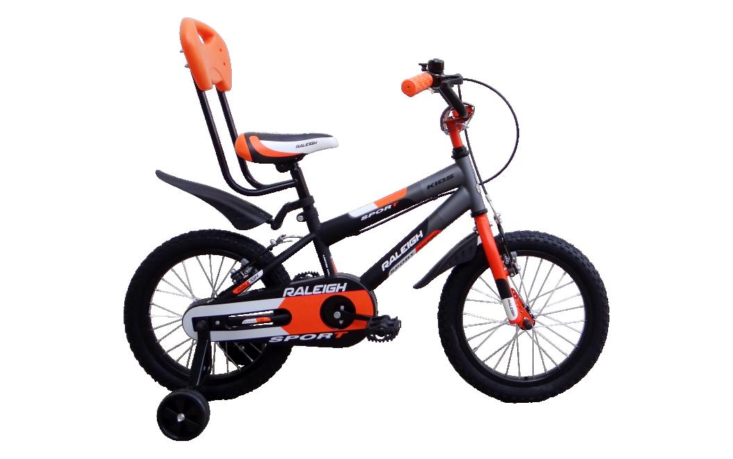 raleigh sport 16 2014 black with orange