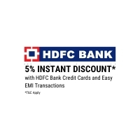 5% Instant Discount with HDFC Bank Credit Cards and Easy EMI Transactions*