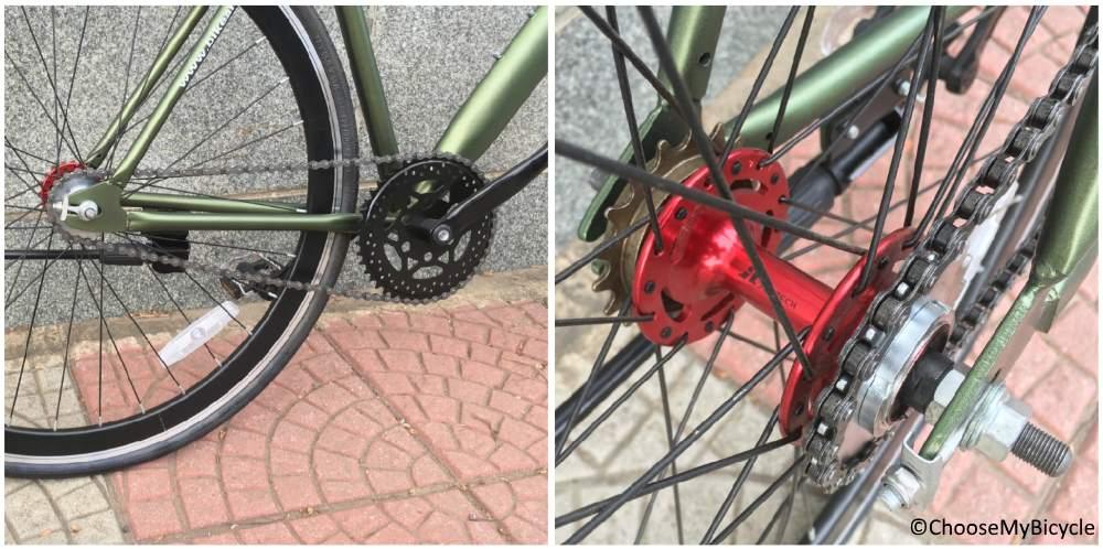 Bike Ark Fixie Orb (2019) Gearing