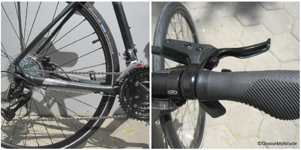 Cannondale Quick 5 Disc (2017) Gearing