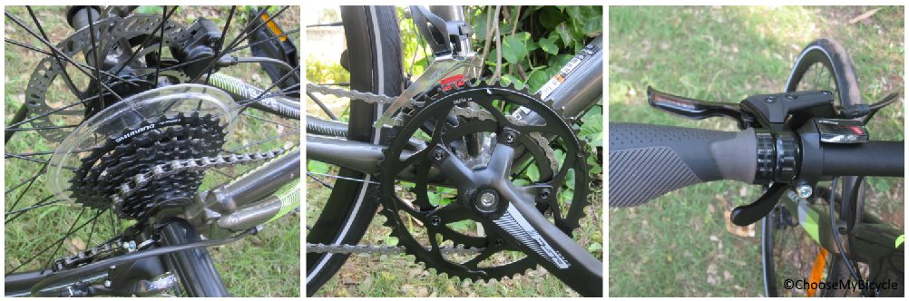 Cannondale Quick 3 Disc (2018) Gearing