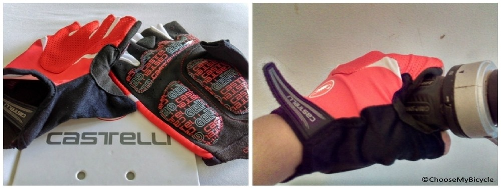 Castelli Arenberg Glove-Gel Red Design and Technology