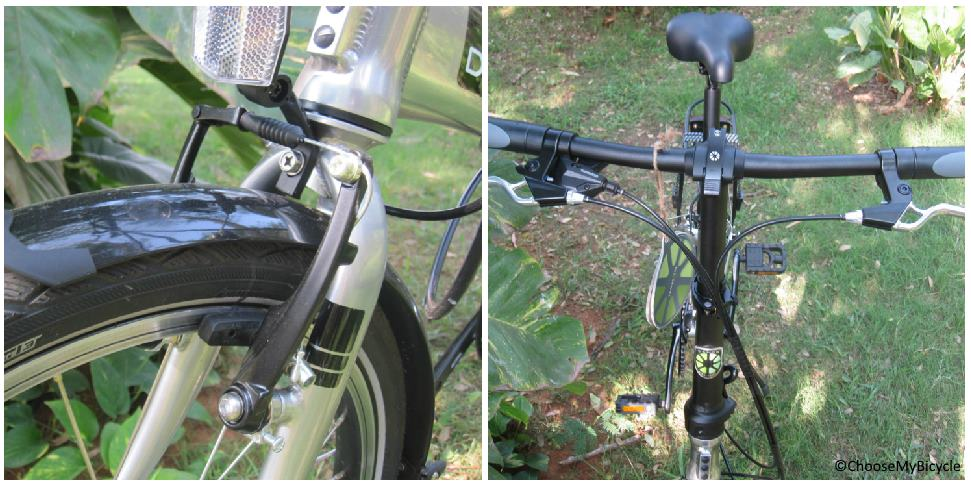 Dahon Mariner D8 (2018) Brakes and Steering