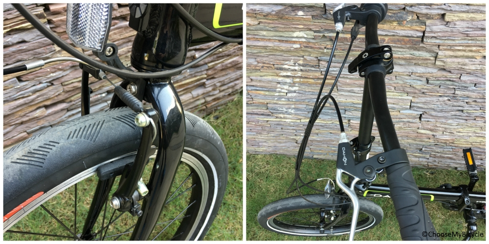 Dahon Vybe D7 (2016) Brakes and Steering