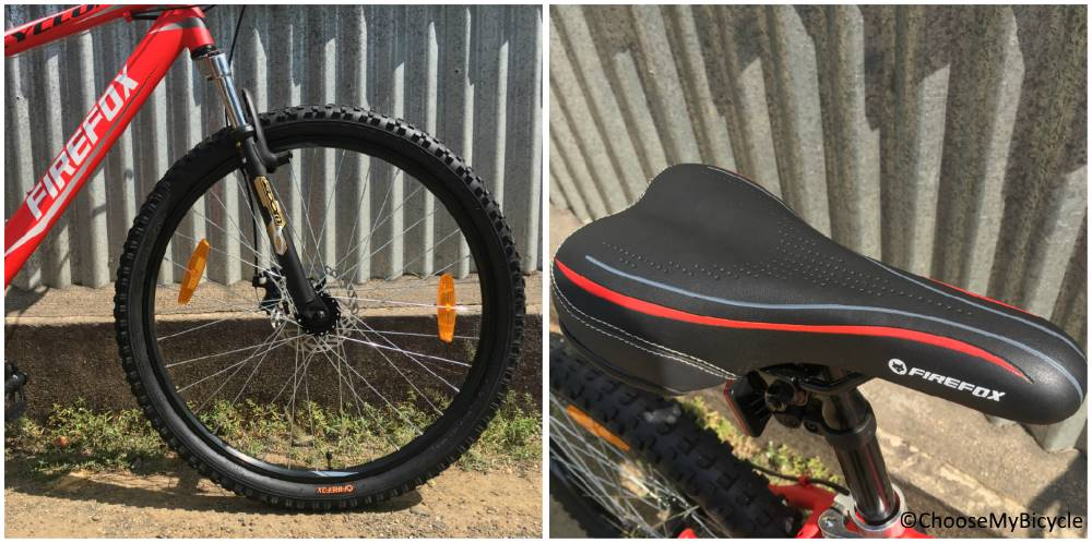 Firefox Cyclone 27.5D Wheels and Saddle