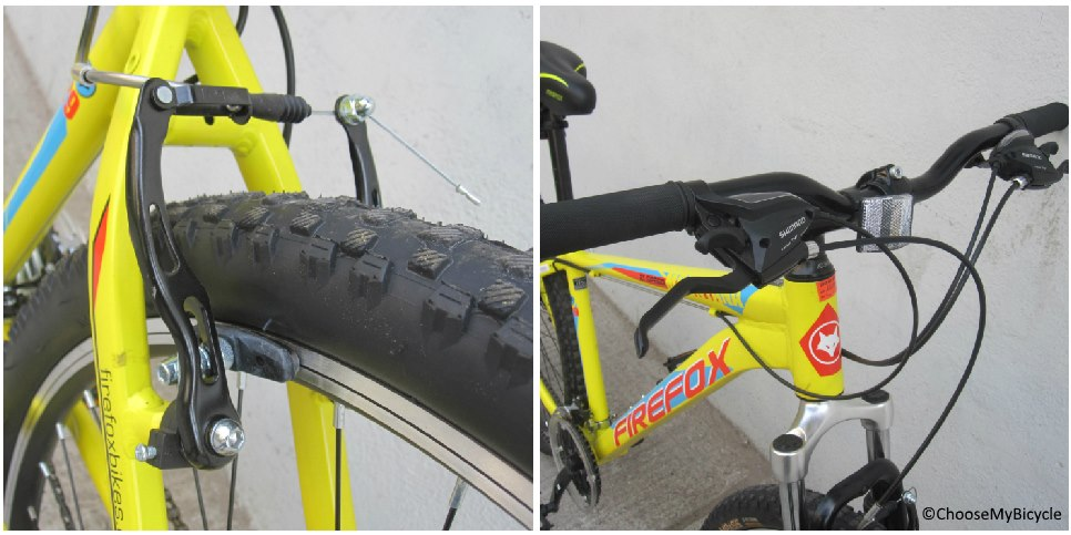 Firefox Mountana 21-Speed 29er Brakes and Steering