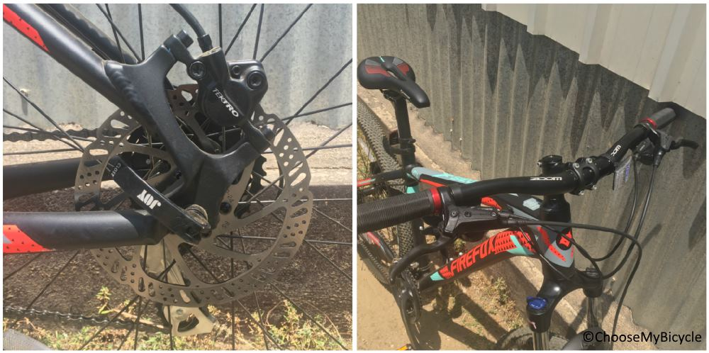 Firefox X-Siege 27.5D Brakes and Steering