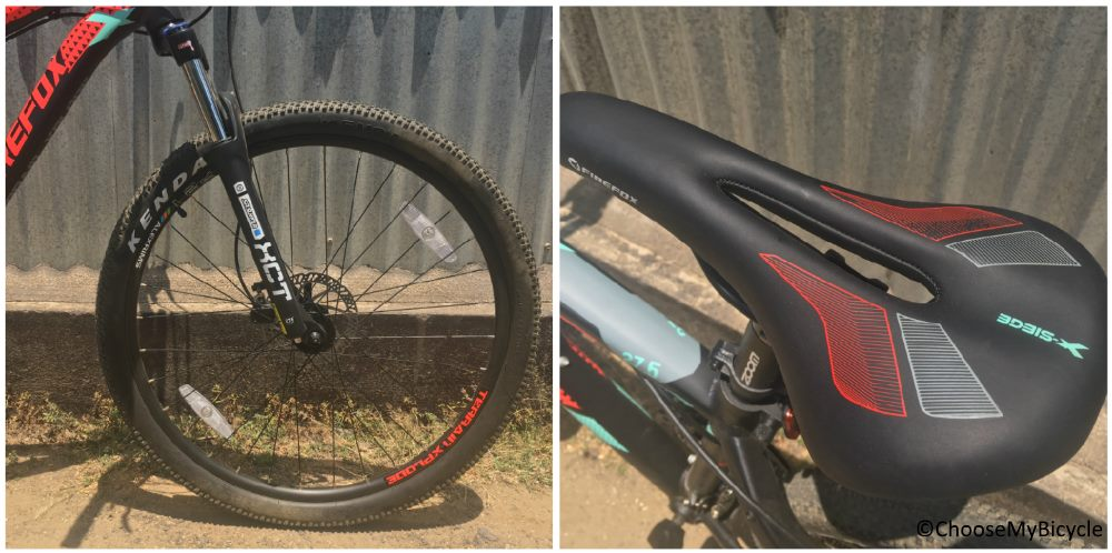 Firefox X-Siege 27.5D Wheels and Saddle