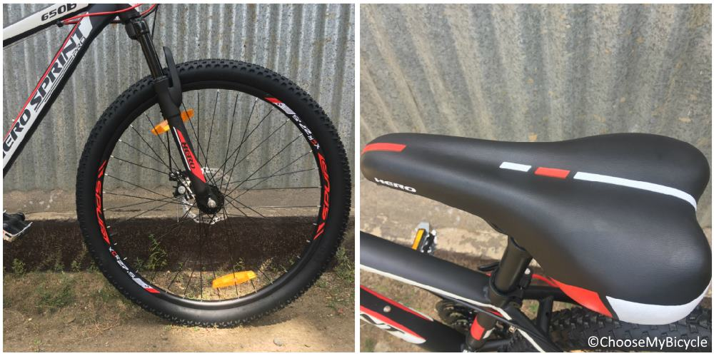 Hero Sprint Pro Reaction 27.5T Wheels and Saddle