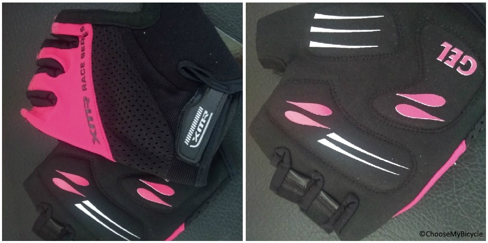 XMR Race Series Gel/Foam Gloves - Black/Light Pink Usage, Fit and Comfort
