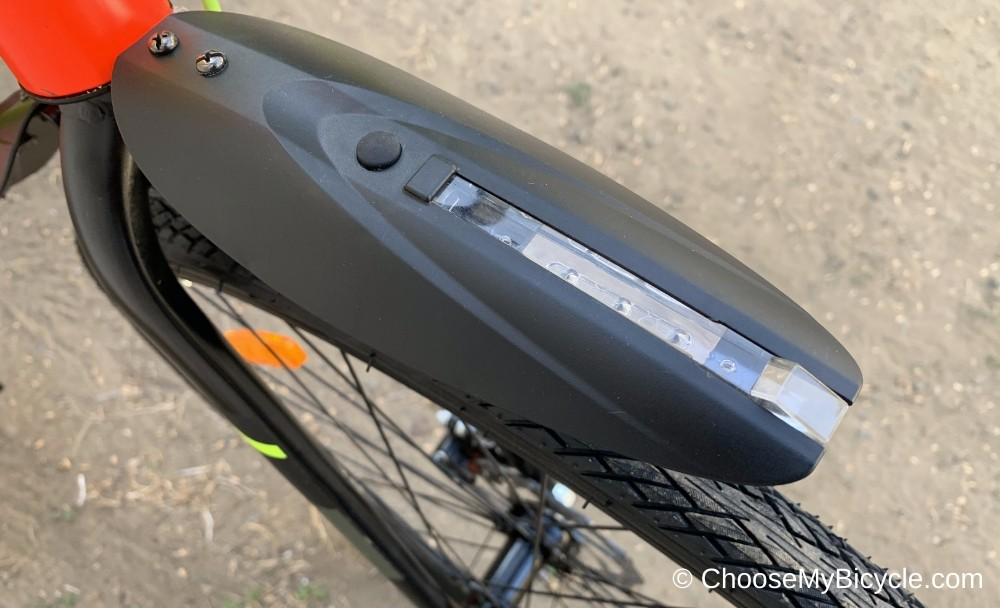 Firefox Bicycle Fender - Front with White LED Snapshot Review