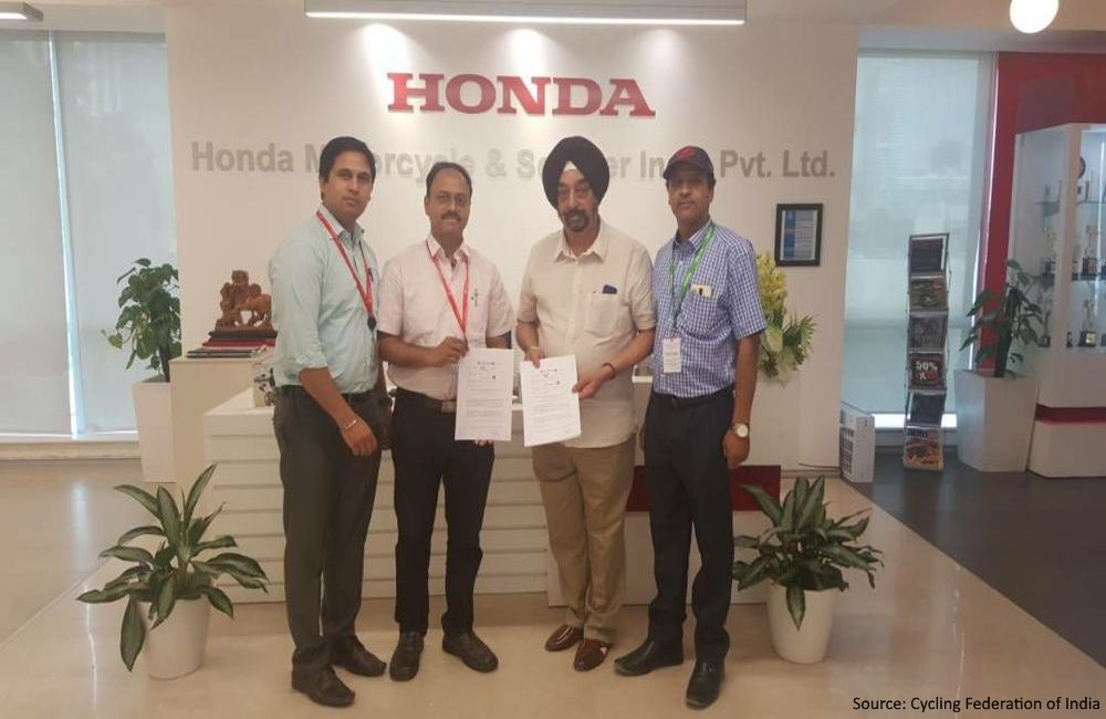 Cycling Federation of India partners with Honda Motorcycles