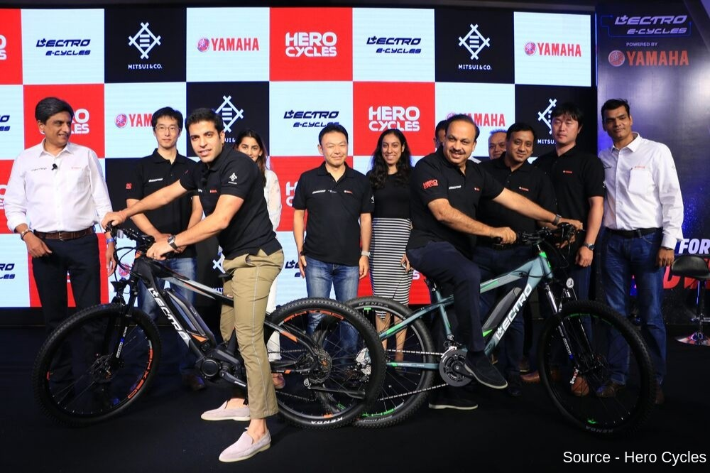 Hero Cycles Partners with Yamaha Motor to launch India's first Centre Motor E-Cycle