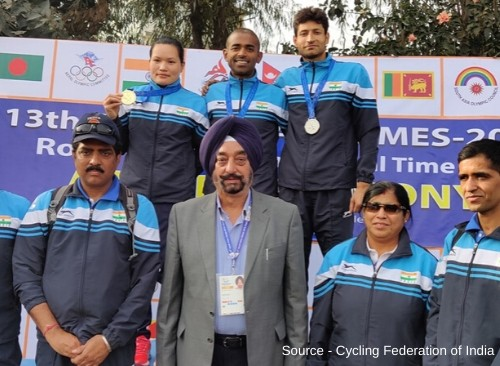 Indian Cyclists shine at South Asian Games 2019-1