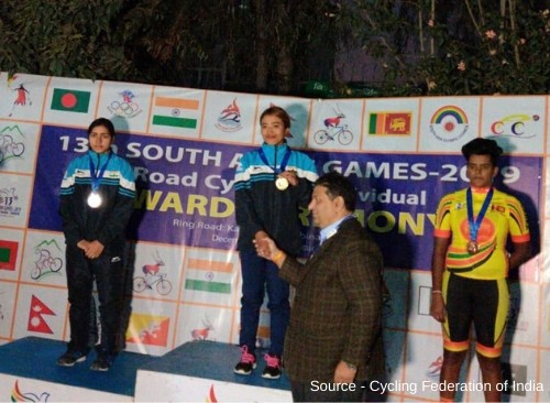 Indian Cyclists shine at South Asian Games 2019-2