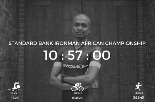 Raghul Ironman at Ironman South Africa Result
