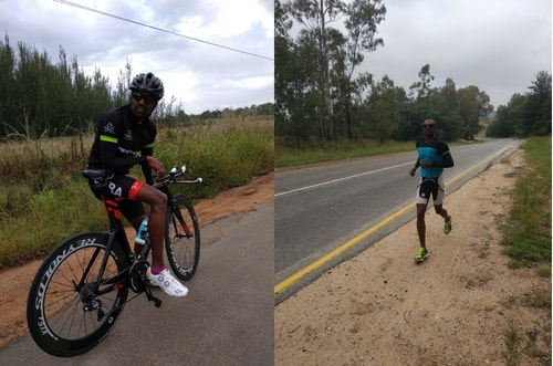 Raghul Ironman at Ironman South Africa Training