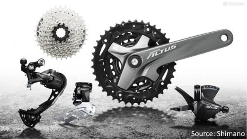 Shimano MTB/Hybrid Bicycle Gearing Groupsets - Shimano Altus