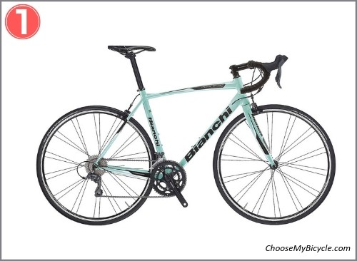 Top 5 Road Bicycles April to June 2019 - Bianchi Via Nirone 7 105 2018