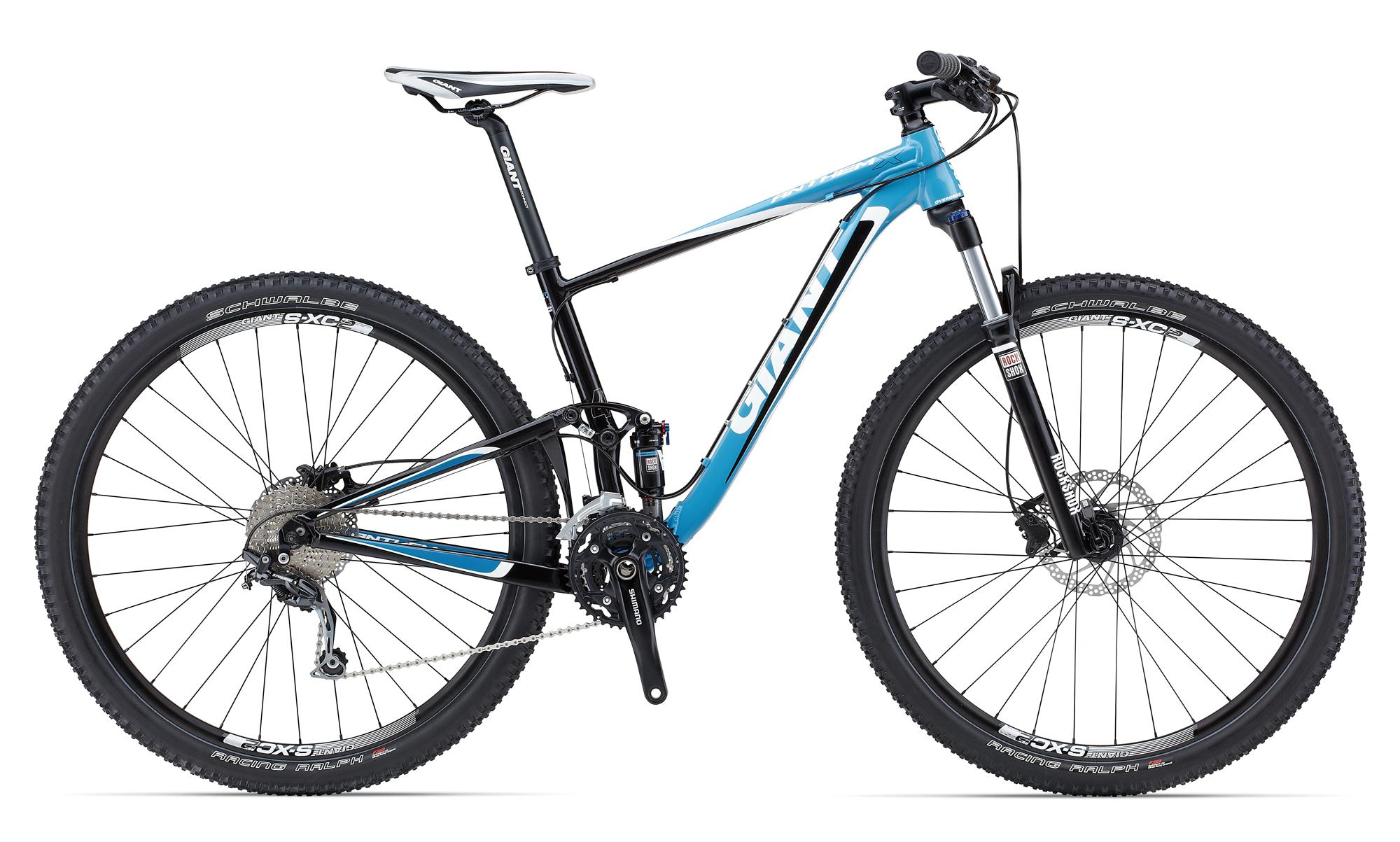 giant anthem x 29er 4 2015 black with blue