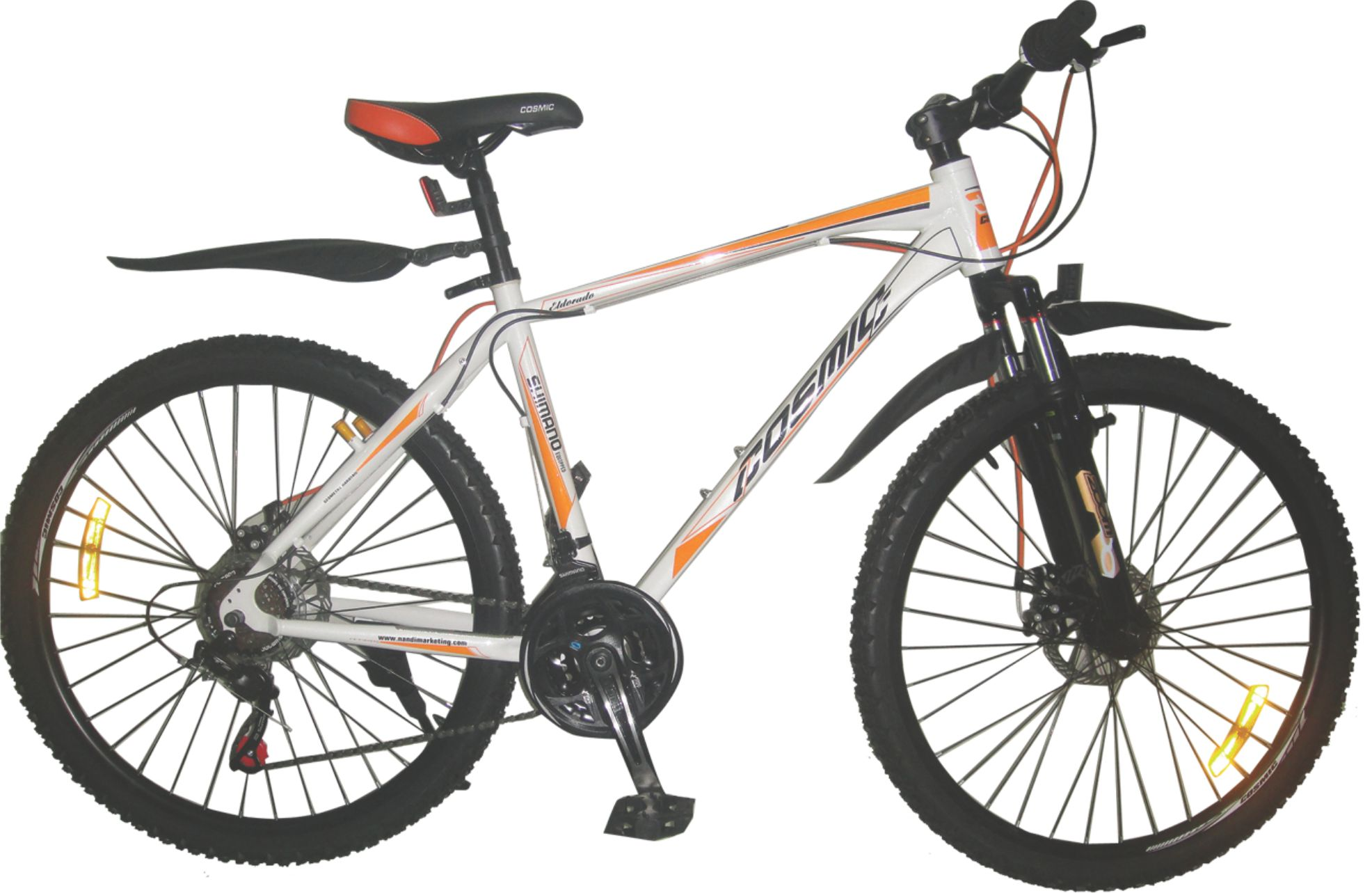 cosmic eldorado classic 26 18 speed 2015 white with orange