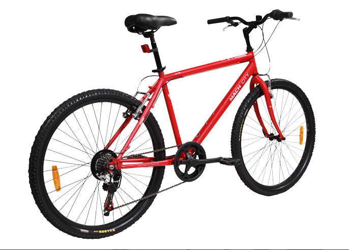 mach city ibike multi speed 2015 red
