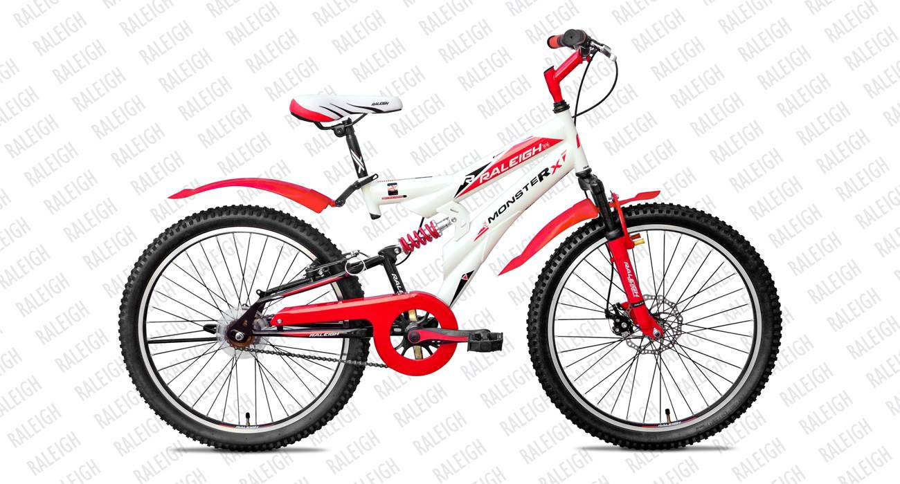 raleigh monster x 26 s s 2015 white with red