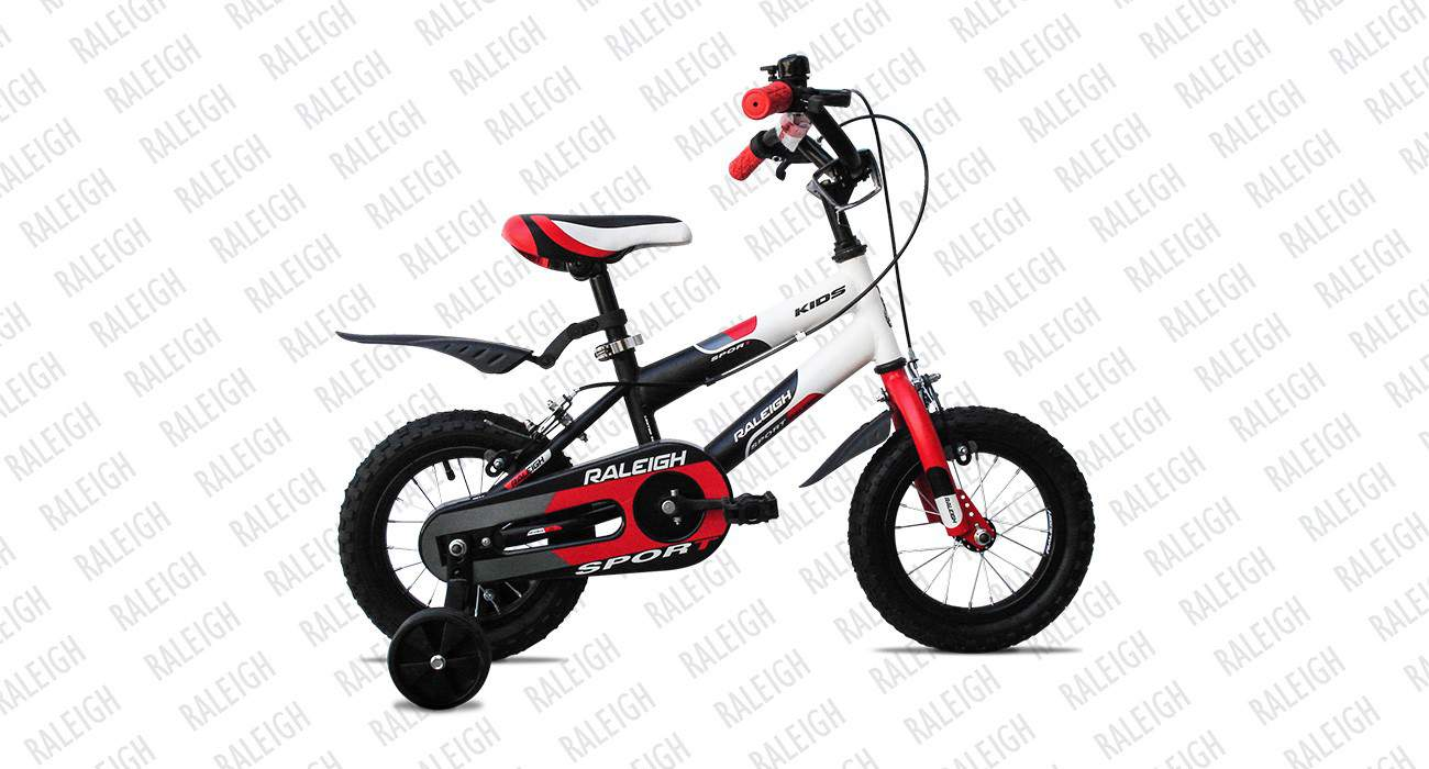 raleigh sport kids 12 2015 black with white
