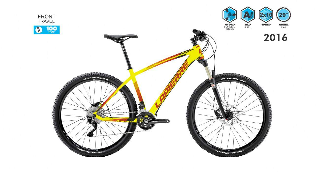 lapierre prorace 329 2016 yellow with red