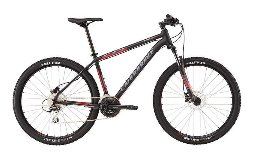 cannondale trail 6 27 5 2016 blackwithred