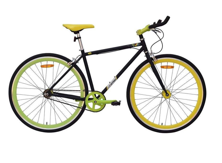 urban trail milano fixie 2016 white with yellow
