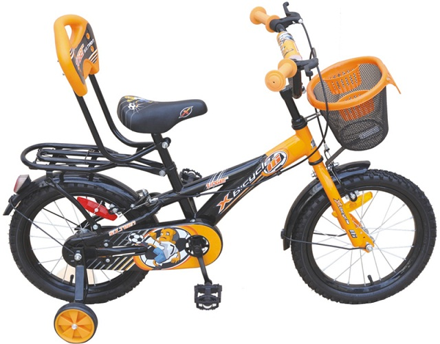 x bicycles zinger 16 boy 2016 black with orange