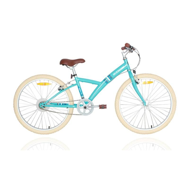btwin poply 100 24 2016 white with blue