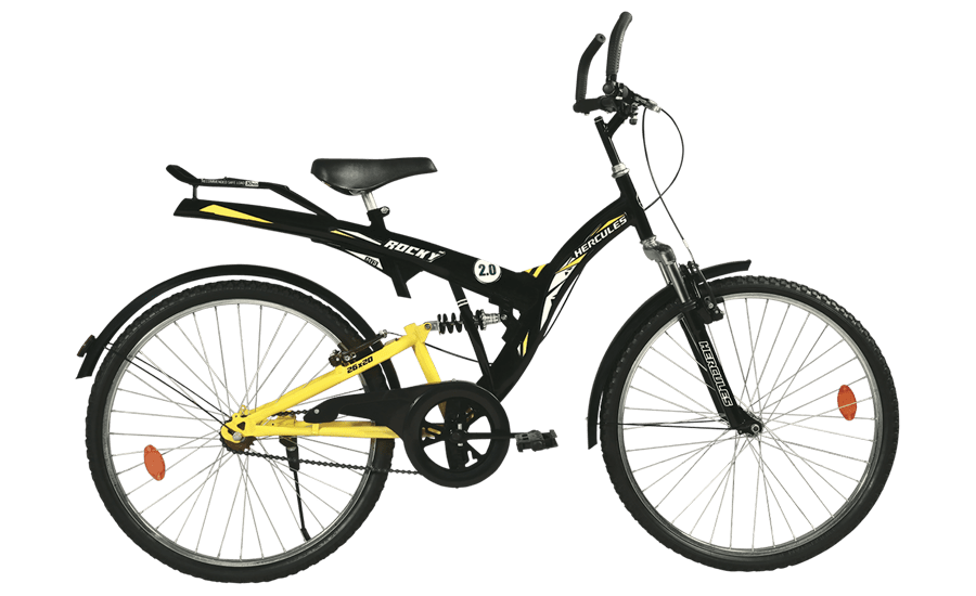 hercules mtb turbodrive rockey zx 26 2016 black with yellow