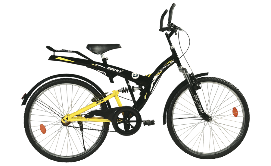 hercules mtb turbodrive rockey zx 24 2016 black with yellow