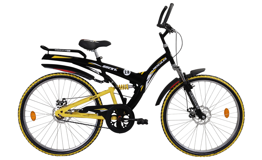 hercules mtb turbodrive rockey zx dx2 26 2016 black with yellow
