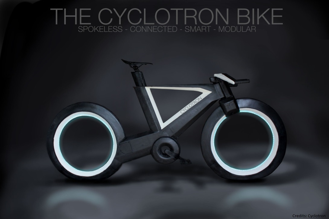 Introducing Cyclotron-The Hubless, Spokeless Bicycle of the Future