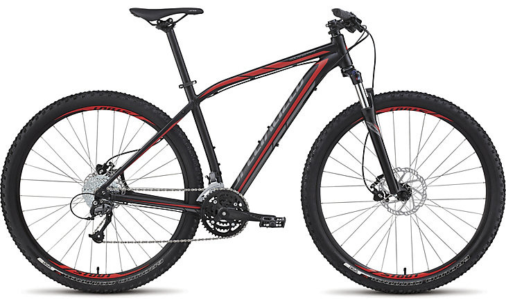 specialized rockhopper sport 29 2015 black with red